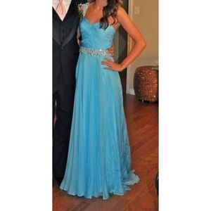 Sherri Hill Blue Formal Dress